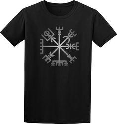 Mens t shirt viking compass- mens shirts