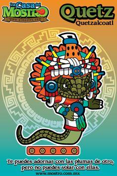 "Quetzalcoatl ""Dios Principal de los Mexicas del Dia y del viento"" Mexican Gods, Cartoon Drawings, Cool Drawings, Aztec Calendar, Mexico Art, Aztec Art, Mesoamerican, Aztec Designs, Comic Covers"