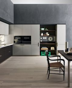 Dada Indada Kitchen designed by Nicola Gallizia. Sophisticated, modern look that introduces new finishes and materials Apartment Kitchen, Apartment Interior, Apartment Design, Kitchen Interior, Home Trends, Modern Kitchen Design, Beautiful Kitchens, Interior Design Inspiration, Interior Architecture