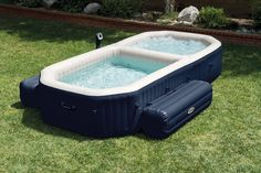 When we get too old to keep a full size pool and hot tub lol. Intex PureSpa Bubble Hot Tub and Pool Combo Intex Hot Tub, Intex Pool, Jacuzzi Bathtub, Spa 4 Places, Oberirdischer Pool, Kiddie Pool, Stock Tank Pool, Home Decor, Shopping