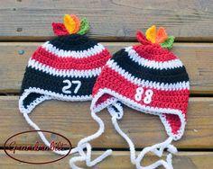 Chicago Blackhawks Baby HOCKEY HELMET Hat  Red or by Grandmabilt, $19.00