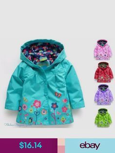 0284ae621ad5 GIRLS FLOWER PRINT WATERPROOF COAT  babyrainoutfit