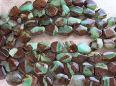 Chrysoprase Chunky Nugget Beads Gorgeous by SimplyAnnabella