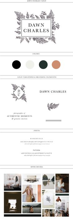 Dawn Charles Branding by Morgan Parsons Creative | www.morganparsons.co loo design botanical illustration