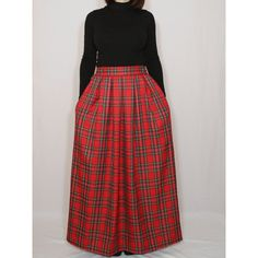 Red Plaid Skirt Tartan Skirt Women Maxi Skirt High Waisted Maxi Skirt... (3.125 RUB) ❤ liked on Polyvore featuring skirts, brown, women's clothing, red midi skirt, long brown skirt, high waisted long skirt, red mini skirt and high-waisted midi skirts