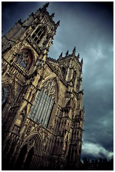 I love this place....i used to paint street art outside....York Minster. York, England.