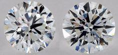 上圖展示了其中一種常用的手法,利用鑽石不同切割面的光暗對比,在 2D 照片用產生視覺錯覺,令鑽石內含物顯得較不明顯 Aurora, Diamond, Northern Lights, Diamonds