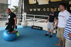 and working out during Golem Fun Day 2013 in Eurovea Good Day, Real Life, Ice, Workout, Buen Dia, Good Morning, Hapy Day, Work Out, Ice Cream
