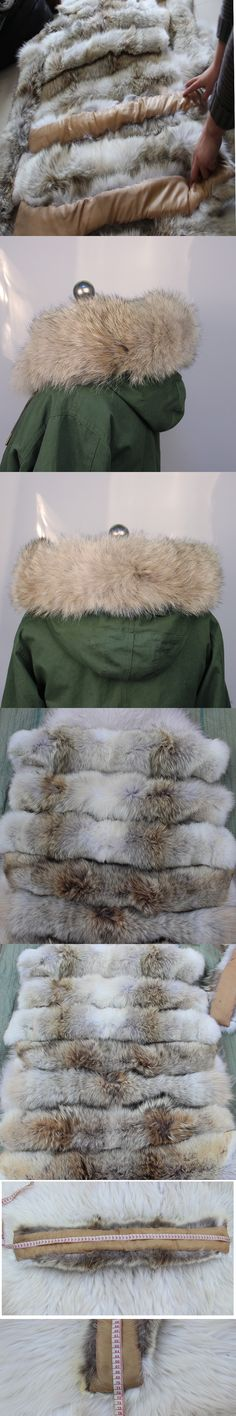 Real Fur Collar for Men and Women Winter Warm Coat Hooded Collar Natural Scarf Factory Direct Wholesale and Retail S#26