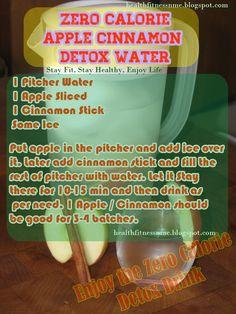 Zero calorie apple cinnamon water