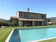 Prestigious villa with swimming pool surrounded by vineyards in the hills of Mugello