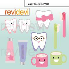 Happy Teeth Clip art