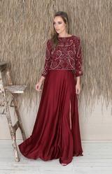 Bridal Stores, Beaded Top, Ash Grey, Bridesmaid Dresses, Wedding Dresses, Black Tie, Get The Look, Midi Skirt, Burgundy