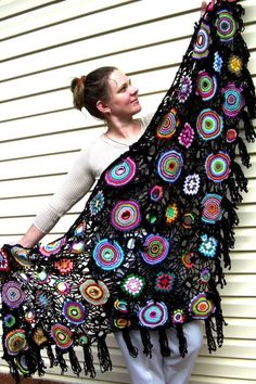 The Starry Night Crochet Shawl by Iryna on Etsy, $695.00 this is so beautiful!