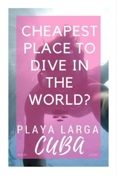 Take the plunge by diving in The Bay of Pigs in Cuba. No boat required making…