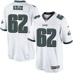 (Philadelphia Eagles Jason Kelce Limited Nike Men's White Jersey) NFL Road #62 Jason Kelce, Nhl Jerseys, White Jersey, Philadelphia Eagles, Nike Men, Nfl, Tops, Nfl Football