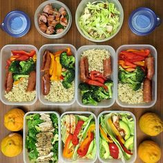 This weeks meals.... Done!  - Kool Cabbage Chicken tacos - Brown Rice Roasted Bell Pepper and @5280meat Cheddar/Jalapeño sausage - Spinach Salad (ranch dressing) - Ojai Pixies