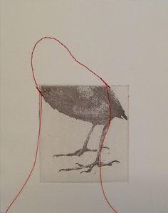 Ronald Ceuppens bird etching