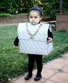 The cutest little Chanel Bag costume. That's about as close as I will probably get. Hahaaa!