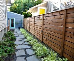 backyard designs – Gardening Ideas, Tips & Techniques Side Yard Landscaping, Backyard Fences, Backyard Projects, Diy Fence, Fence Ideas, Easy Projects, Backyard Ideas, Landscaping Ideas, Wood Projects