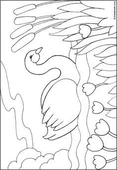 coloriage-animaux-cygne.gif 514×747 pixels Op Art Lessons, Drawing Lessons For Kids, Art Drawings For Kids, Colorful Drawings, Easy Drawings, Free Kids Coloring Pages, Coloring Book Art, Adult Coloring Book Pages, Coloring For Kids