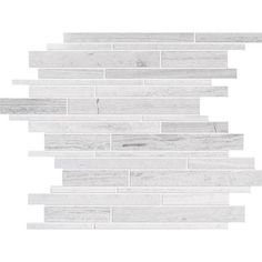 Modamo - Polished Random Strip Wooden White Limestone Mosaic - Home Depot Canada. ($9.50/sqft)