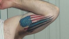 Half subdued w/ thin blue line. Line Tattoos, Sleeve Tattoos, Gladiator Helmet, Pretty Tattoos, Thin Blue Lines, American Flag, Tatting, Tattoo Ideas