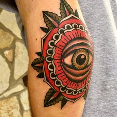 Photo of Mainstay Tattoo - Austin, TX, United States. Eyeball mandala on my left elbow done by Ivan Antonychev.