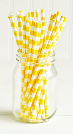 Striped Straws. Love these! I used pink and teal for my daughter's garden party. They look so pretty