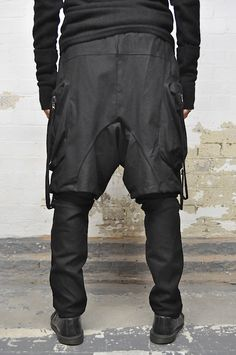 Cyberpunk Fashion, Parachute Pants, Trousers, Collections, Pockets, Mens Fashion, Casual, Clothing, How To Wear