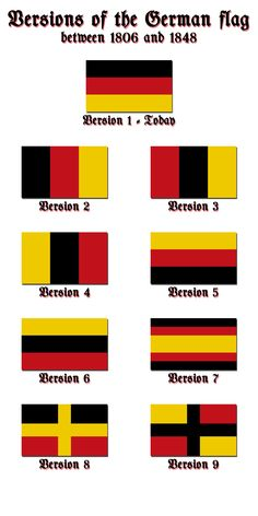 Versions of the German flag by Kristo1594.deviantart.com on @deviantART
