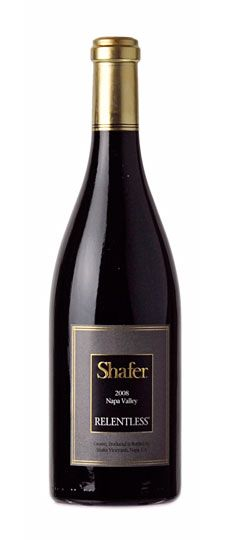 """2008 Shafer """"Relentless"""" Napa Valley Syrah.  Rated #1 Wine of the Year 2012 by Wine Spectator ~60 per bottle"""