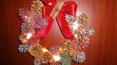 How to make pine cone Christmas wreath  #christmas #christmascrafts