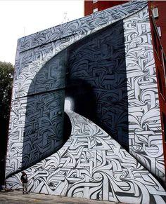 Street art by Astro in New York - Graffitis - Chalk Art Murals Street Art, Street Art Graffiti, Street Art News, 3d Street Art, Mural Art, Street Artists, Graffiti Kunst, Amazing Street Art, Amazing Art