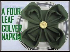 Napkin Folding: 9 Ways how to fold Napkin on St. Patrick's Day. - YouTube
