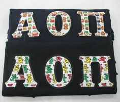 One of our on sale packs, available now. Click through to see how many are available (usually one) and for more information on the items included. It's practically a steal! Alpha Omicron Pi, Custom Greek Apparel, Sorority Outfits, Greek Clothing, Bid Day, Screen Printing, Packing, Lettering, Greek Outfits