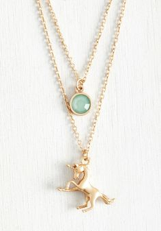 Fairytale Your Friends Necklace - Gold, Mint, Casual, Quirky, Spring, Good, Solid, Fairytale, Wedding, Bridesmaid, Bride