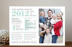 year in review holiday card - interesting ideas