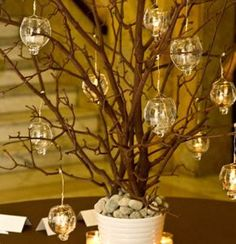 adorno de ramas en la noche - Buscar con Google