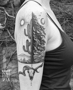 That tattoo is amazing! Need some ideas for animal tattoos? Check out our other stunning animal tattoo posts now. Elk Tattoo, Sheep Tattoo, Lone Wolf Tattoo, Ohio Tattoo, Time Tattoos, Body Art Tattoos, Sleeve Tattoos, Tatoos, Moon Tattoos
