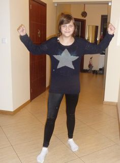sweter z gwiazdą diy