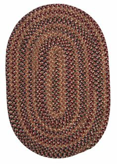 Twilight TL70 Rosewood Braided Wool Rug by Colonial Mills