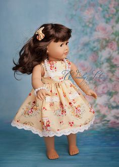 The cutest vintage doll set! #dollclothing #agdoll #dolloutfits