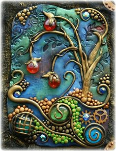 """The Dusty Attic Blog: """"Mixed Media Journal Cover"""" - Gabrielle Pollacco. Wow! Some people are just too creative."""
