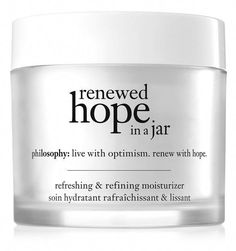 philosophy, renewed hope in a jar #AntiAgingEyeCream Anti Aging Moisturizer, Moisturizer For Dry Skin, Cleanser For Sensitive Skin, Facial Cleanser, Purity Made Simple, Skin Cream, Best Face Products, Lush Products, Skin Care Tips