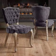 Lowest price online on all Noble House Chandler Tufted Fabric Dining Chairs in Grey (Set of - Tufted Dining Chairs, Fabric Dining Chairs, Dining Chair Set, Eames Chairs, Home Decor Sets, Grey Chair, Country Furniture, Side Chairs, Bar Chairs