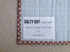 Learn how to create simple labels for your quilts or handmade goods!