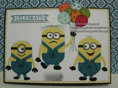 Despicable Me punch art characters. For instructions bisit my website www.stampinfantastic.co.nz
