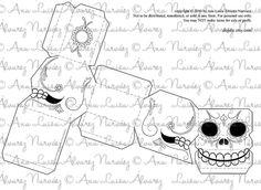 Sugar skulls Printable Paper Craft PDF