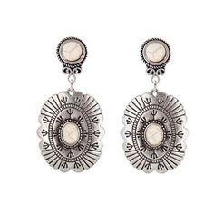 Shyanne® Women's Vintage Concho Earrings